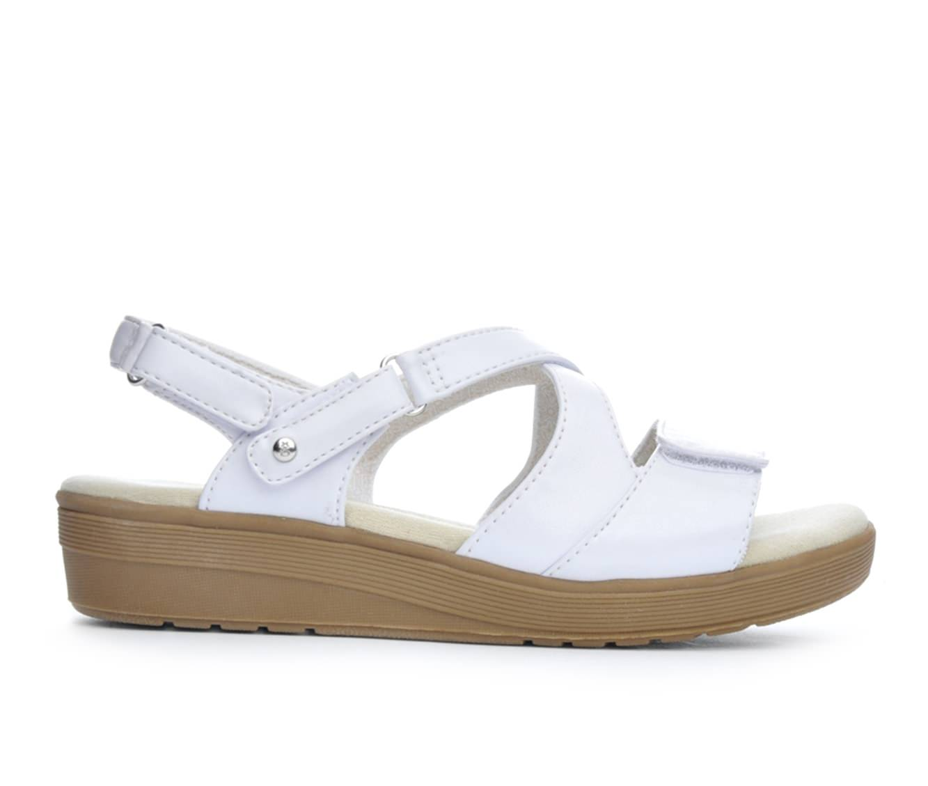 Women's Grasshoppers Cherry Wedge Sandals (White)