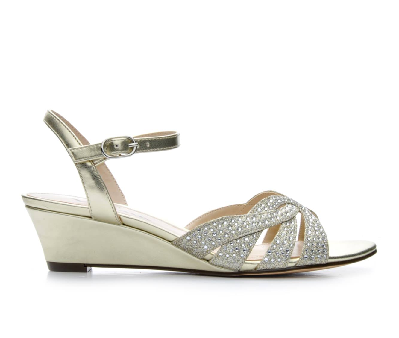 Women's Touch Of Nina Fedosia Wedge Sandals (Gold)