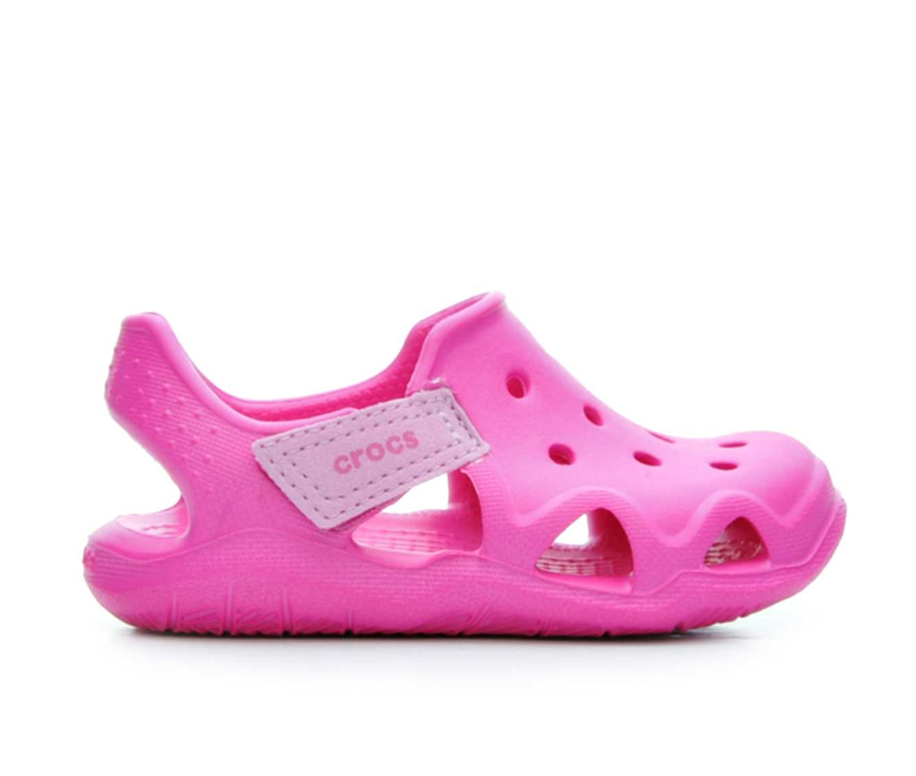 Girls' Crocs Swiftwater Wave G Sandals (Pink)