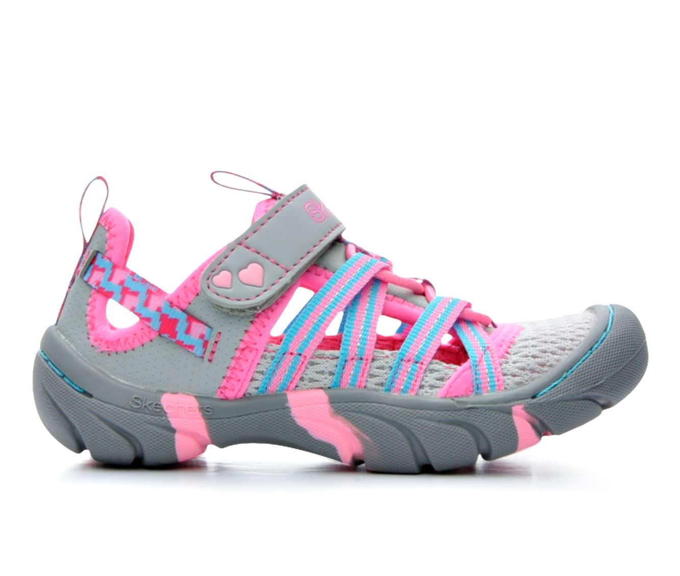 Girls' Skechers Summer Steps Sandals (Grey)