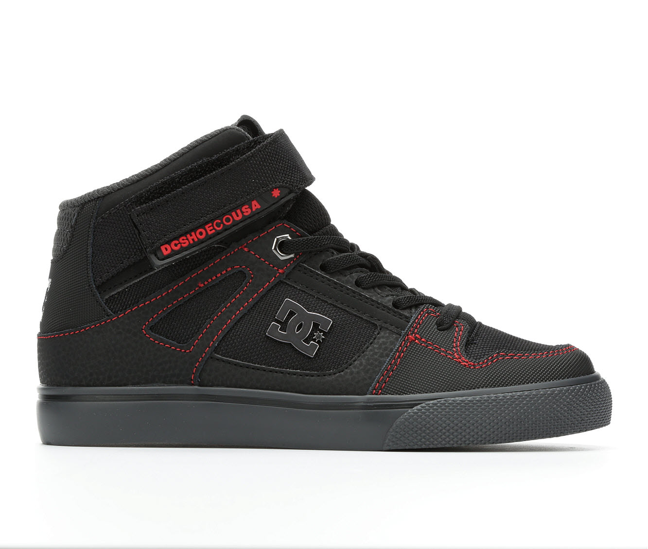 Boys' DC Spartan Hi EV Skate Shoes (Black)