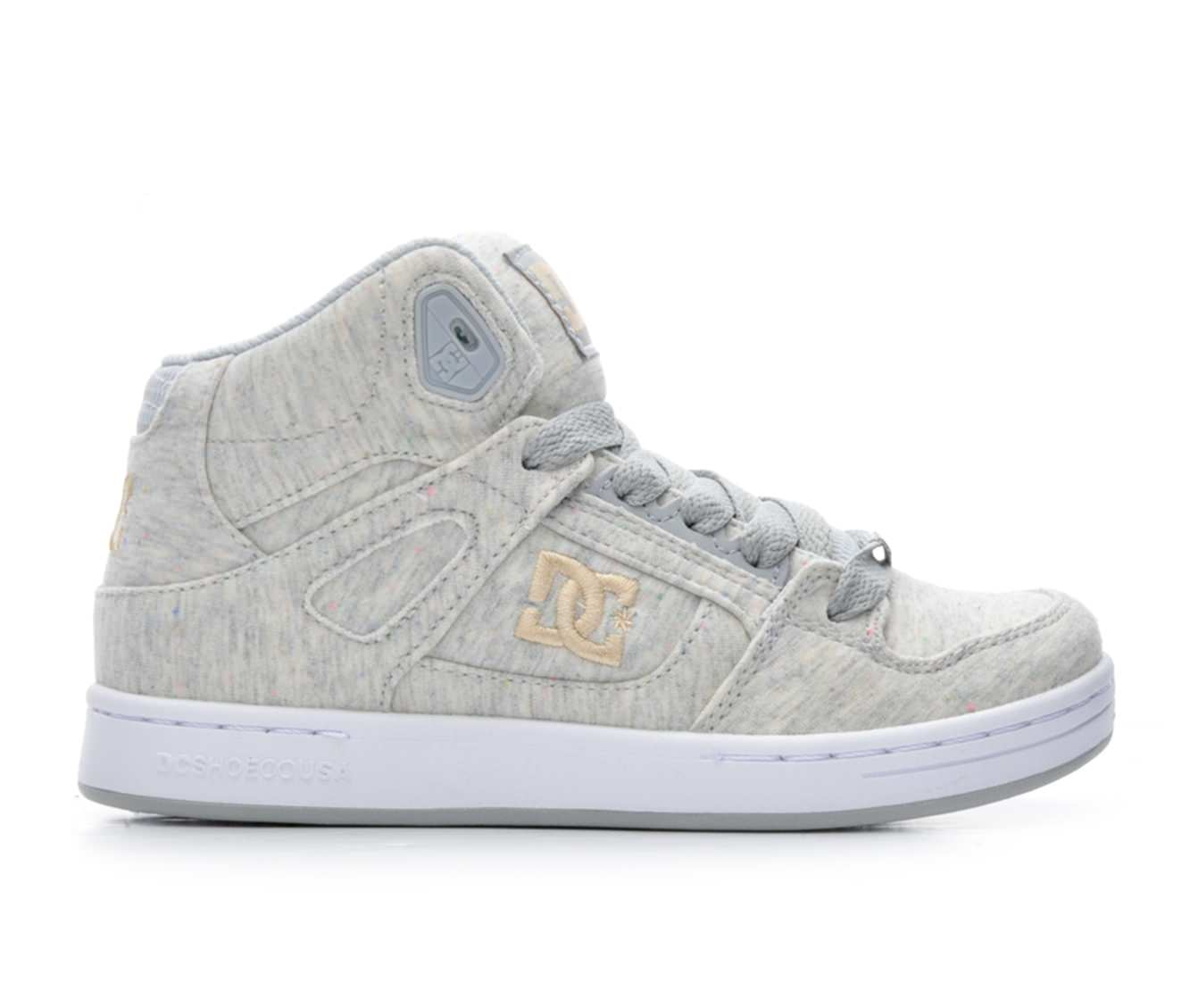 Girls' DC Rebound TX SE Skate Shoes (Grey)