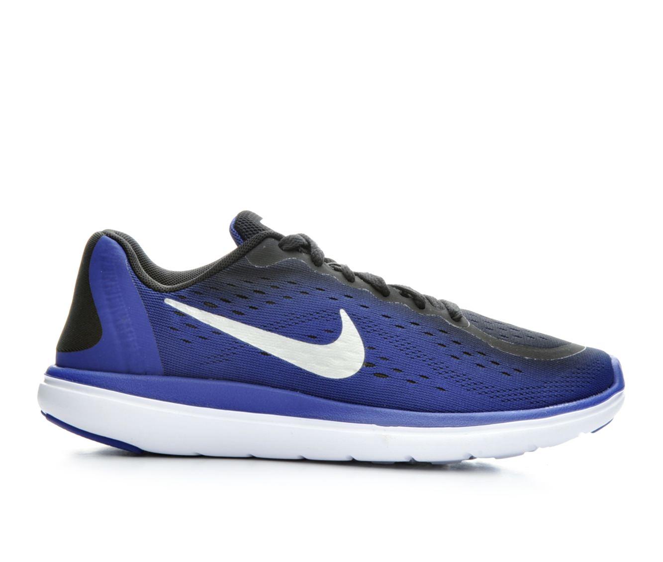 Boys' Nike Flex Run 2017 Running Shoes (Blue)