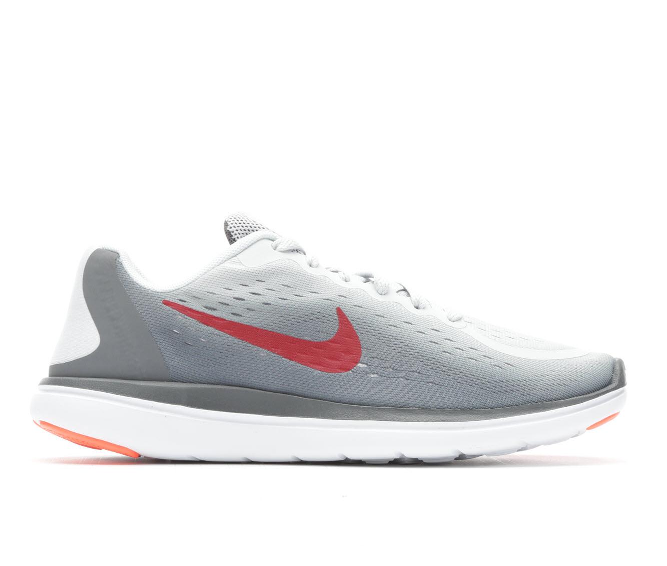 Boys' Nike Flex Run 2017 Running Shoes (Grey)