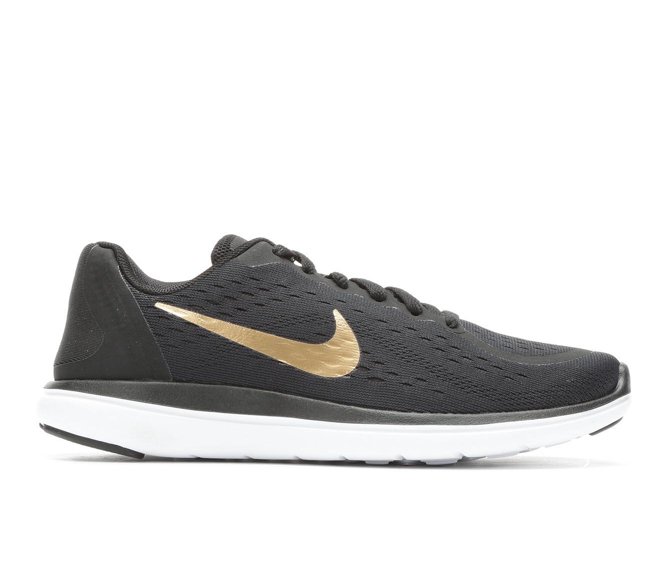 Boys' Nike Flex Run 2017 Running Shoes (Black)