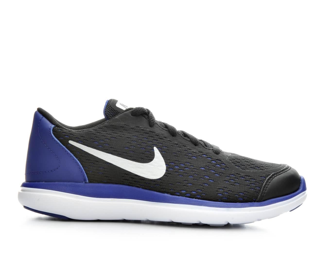 Boys' Nike Flex RN PS Running Shoes (Black)