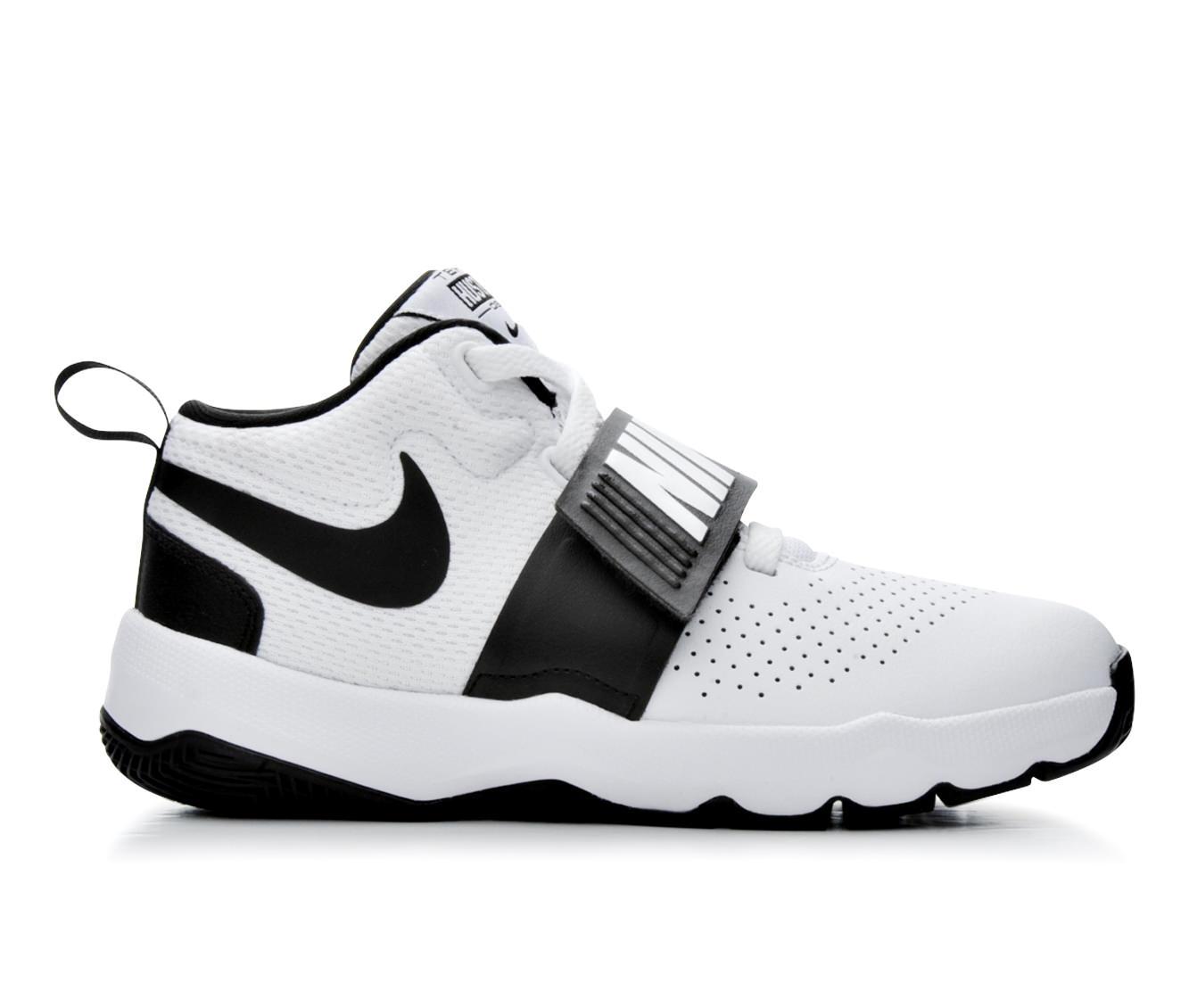 Boys' Nike Team Hustle D8 Basketball Shoes (White)