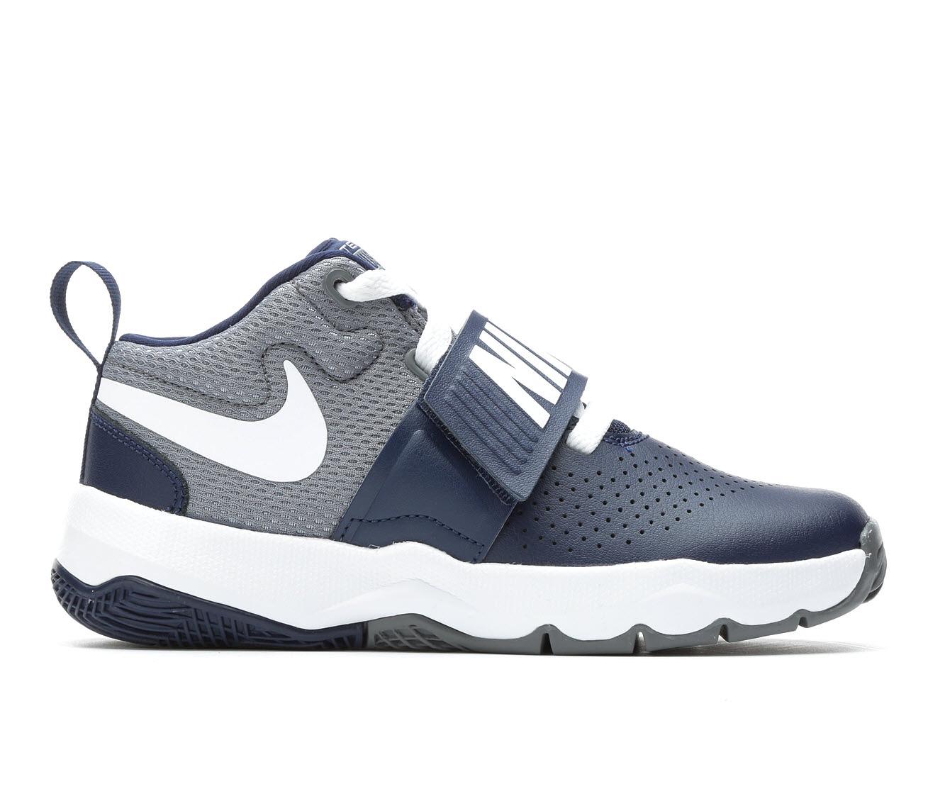 Boys' Nike Team Hustle D8 Basketball Shoes (Blue)