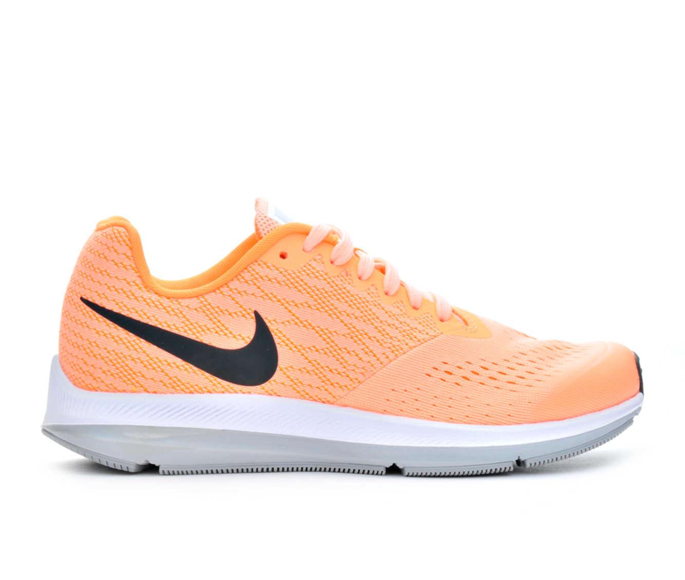 Girls' Nike Zoom Winflo 4 Running Shoes (Orange)