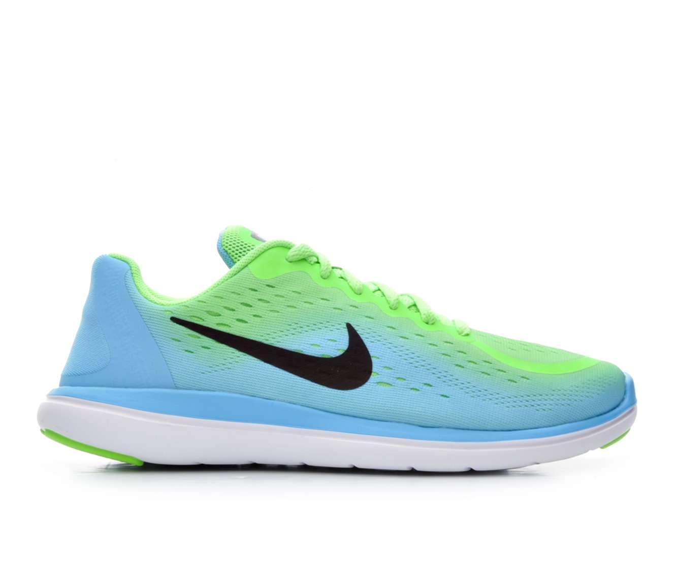 Girls' Nike Flex Run 2017 Running Shoes (Green)