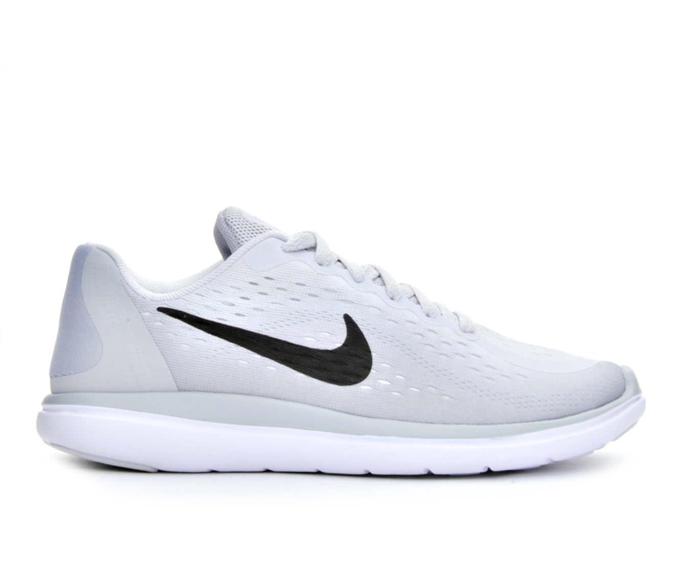 Girls' Nike Flex Run 2017 Running Shoes (Grey)