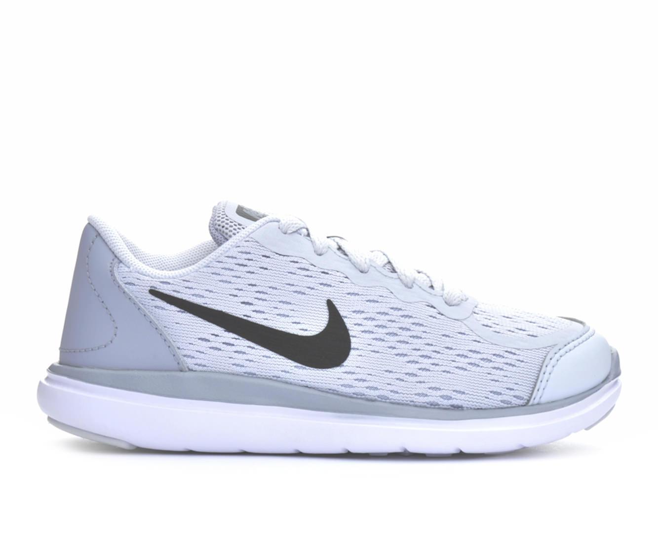 Girls' Nike Flex RN 10.5 - 3 Running Shoes (Silver)