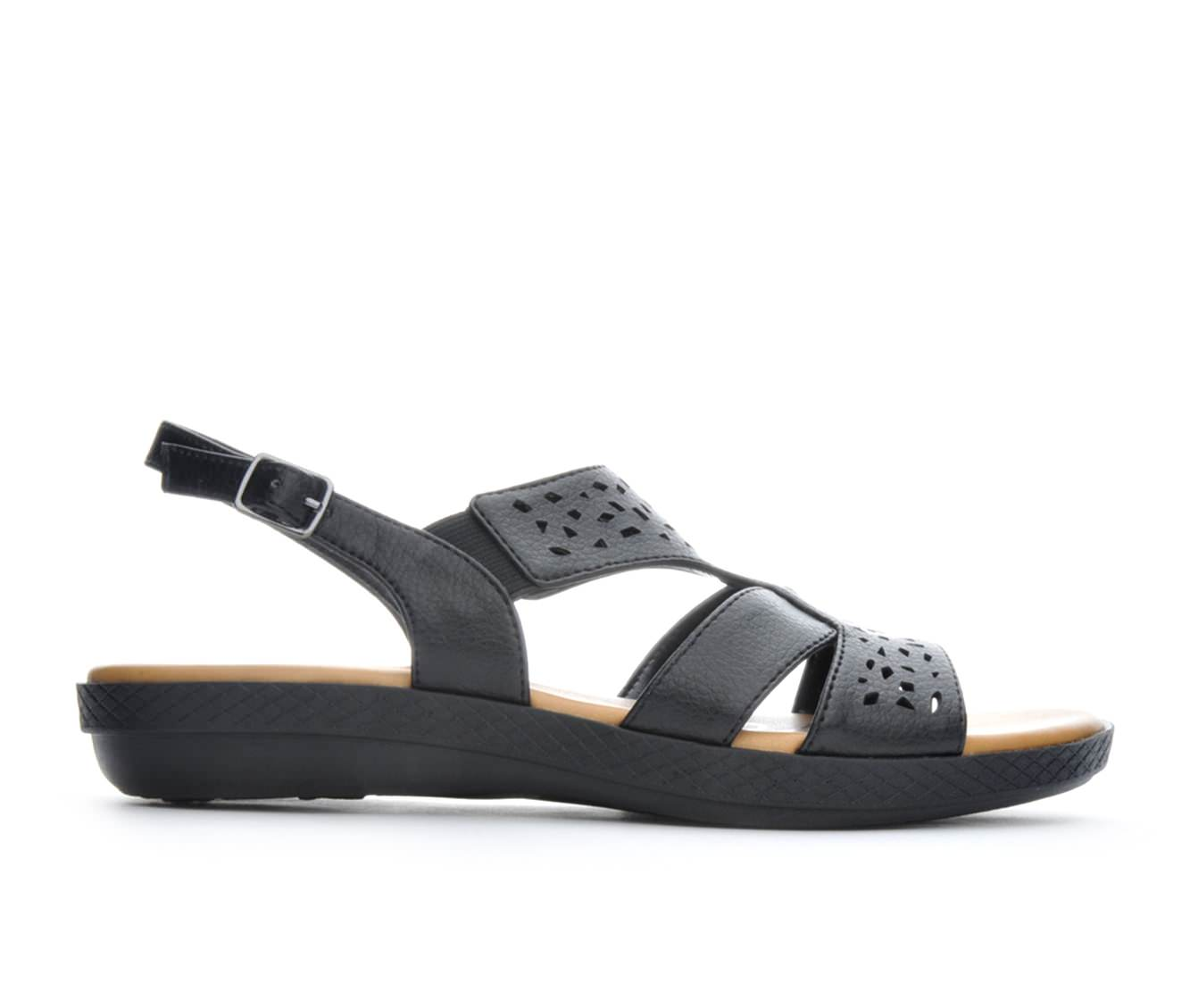 Women's Easy Street Bolt Sandals (Black)