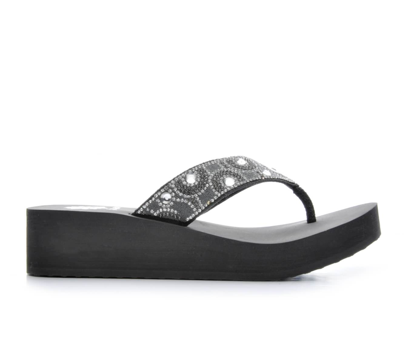 Women's Yellow Box Power Wedge Sandals (Grey)