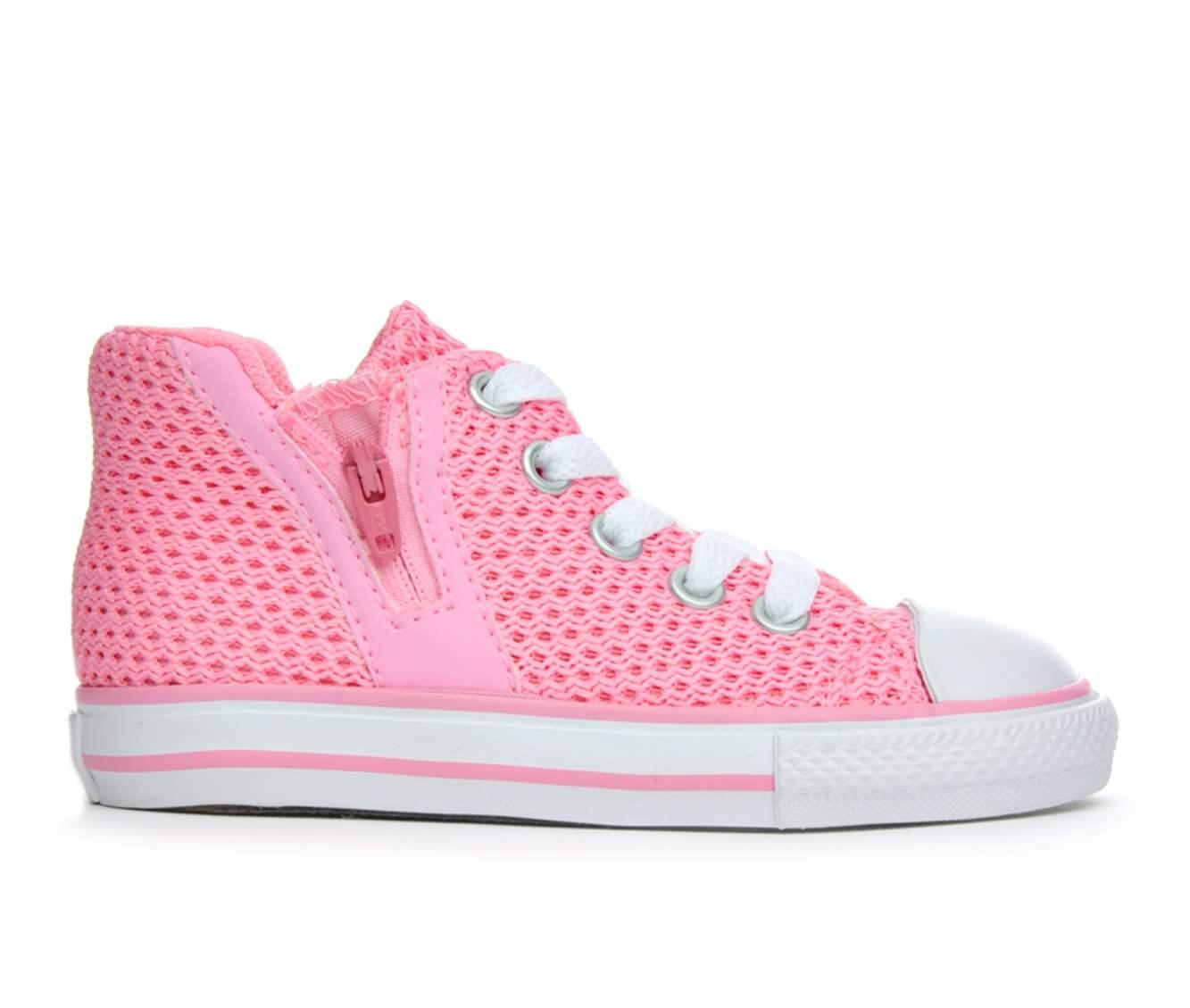 Girls' Converse Infant All Star Sport Zip Hi Crochet Sneakers (Pink)