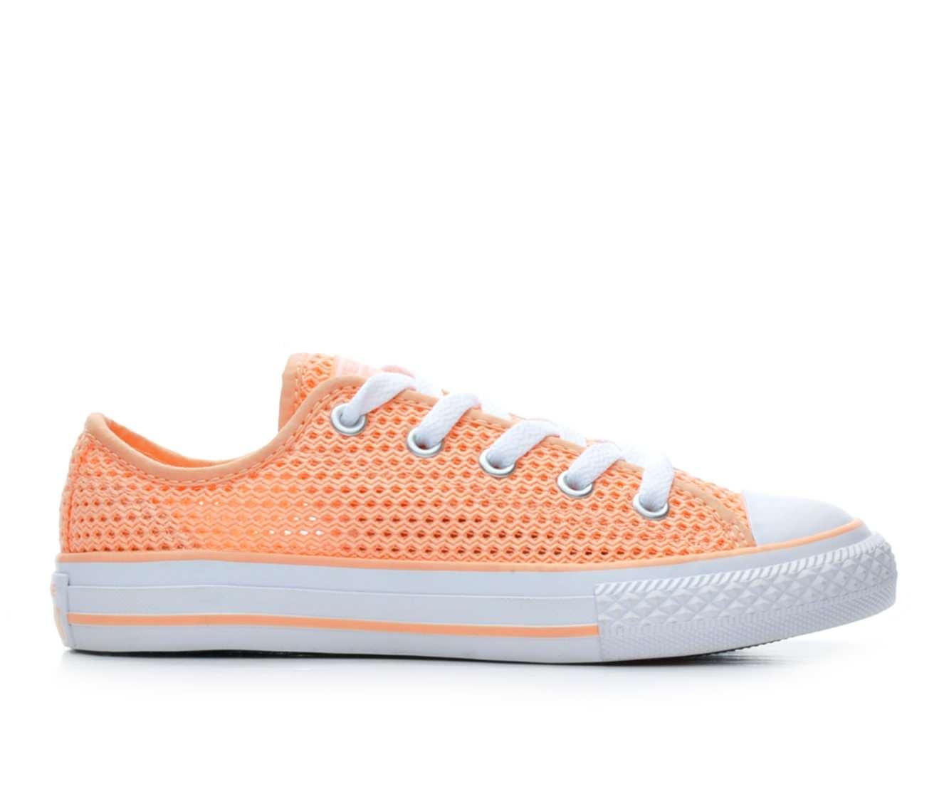 Girls' Converse Chuck Taylor All Star Ox Crochet Sneakers (Orange)