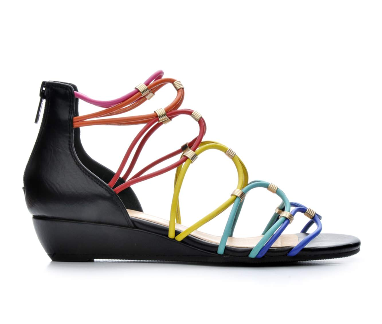 Women's Paprika Porsha Wedge Sandals (Multicolor)