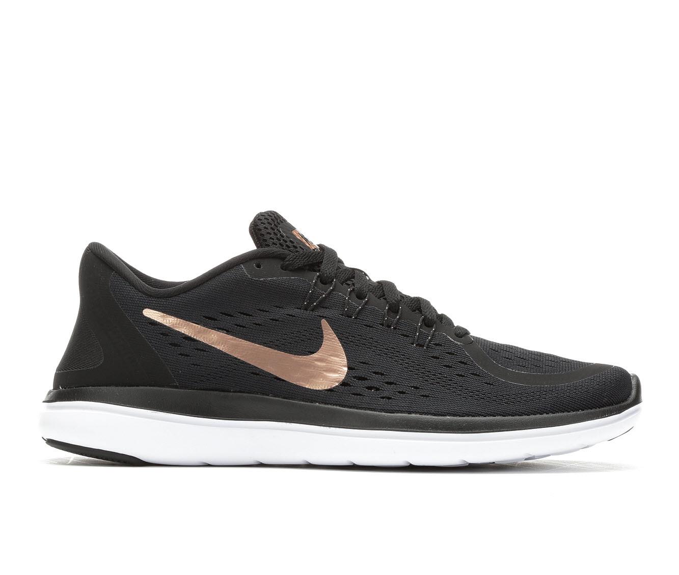Women's Nike Flex Run 2017 Running Shoes (Black - Size 5.5) 1689421