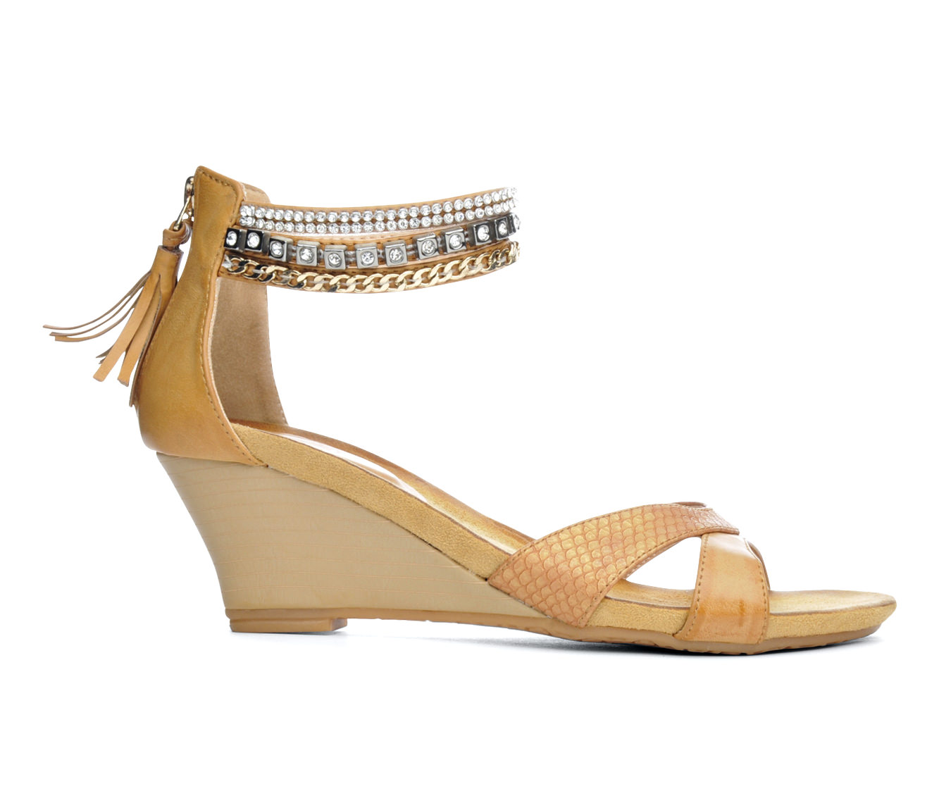 Women's Patrizia Rho Wedge Sandals (Beige)