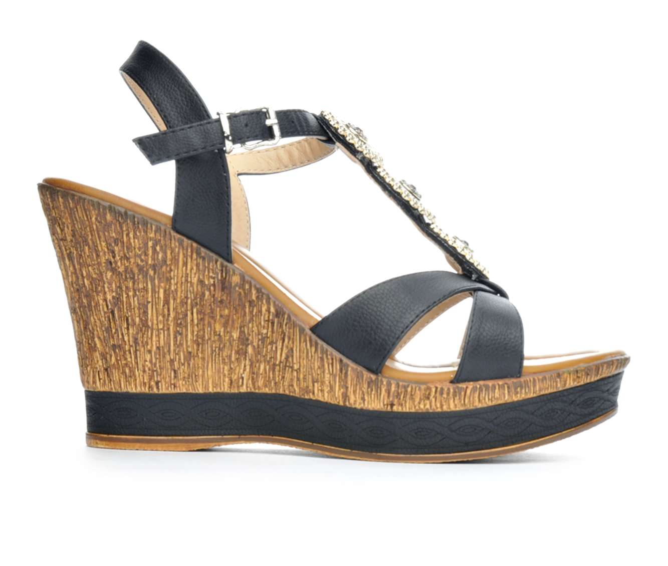 Women's Patrizia Satrada Wedge Sandals (Black)