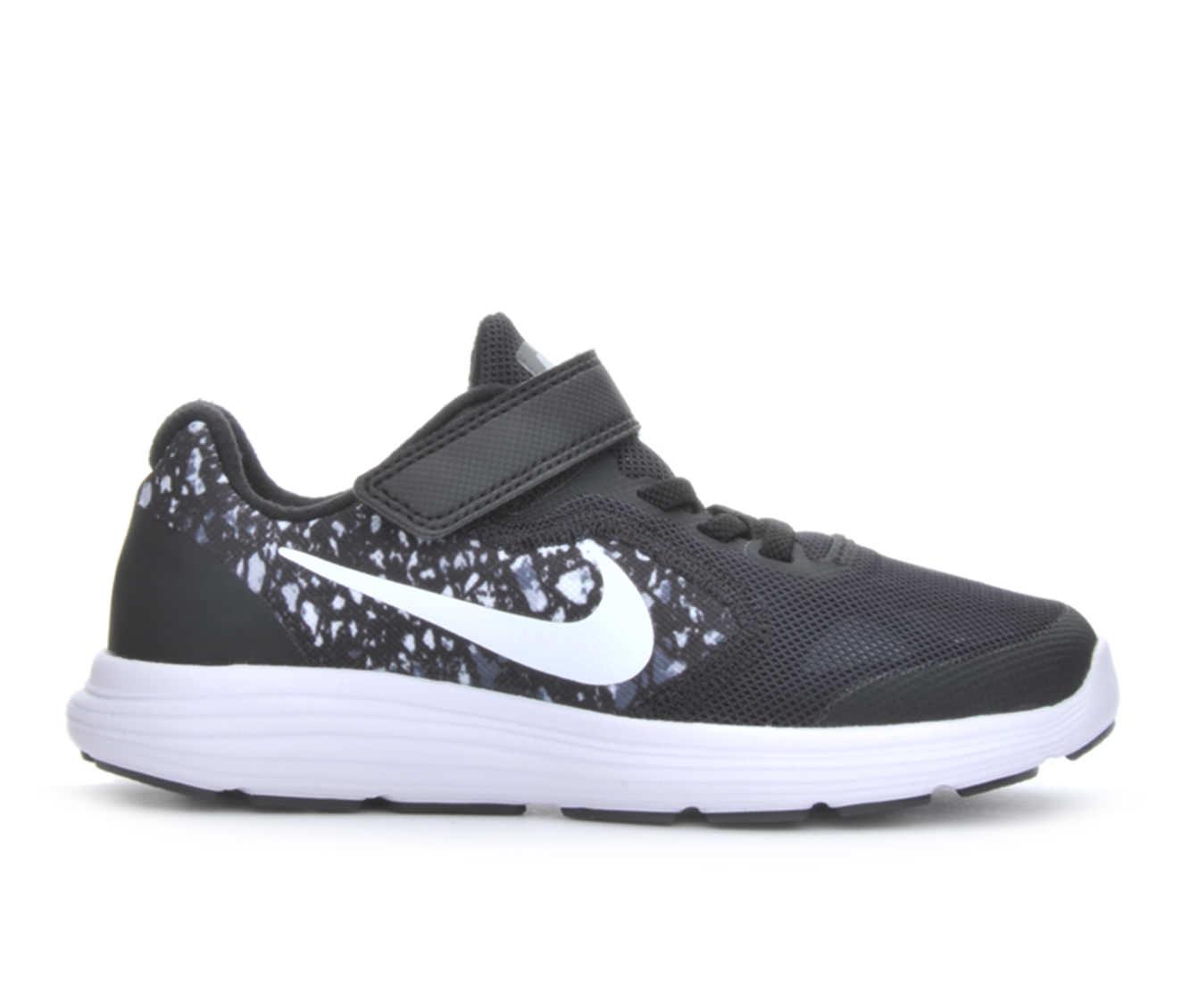 Boys' Nike Revolution 3 Print Running Shoes (Black)