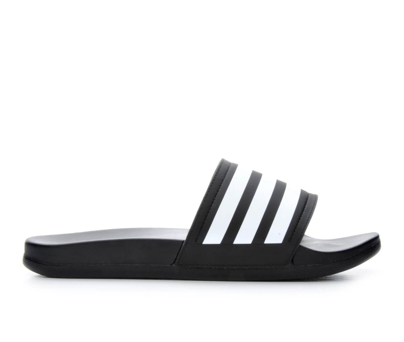 Women's Adidas Adilette Stripes Sport Slides (Black)