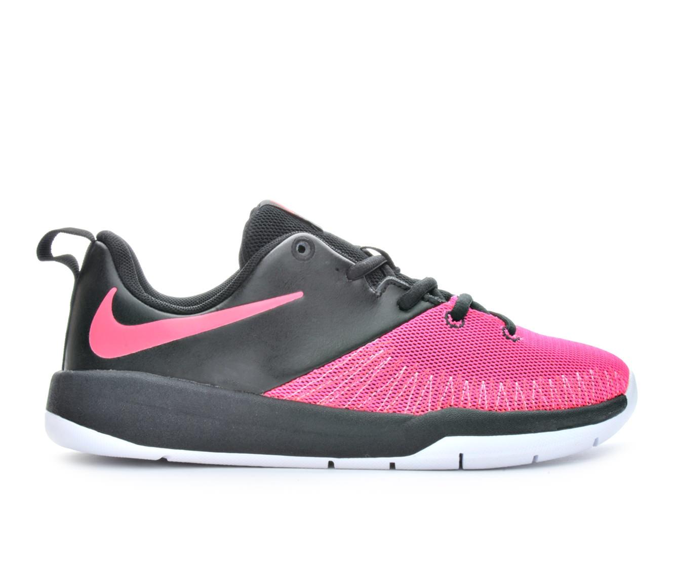 Girls' Nike Team Hustle D7 Low Basketball Shoes (Black)
