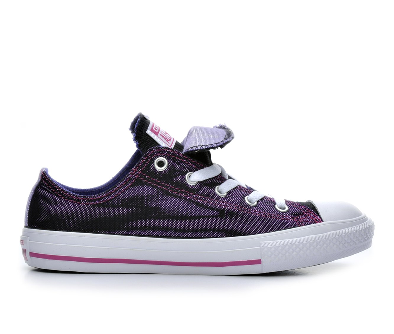 Girls' Converse Chuck Taylor Double Tongue Shimmer Sneakers (Purple)