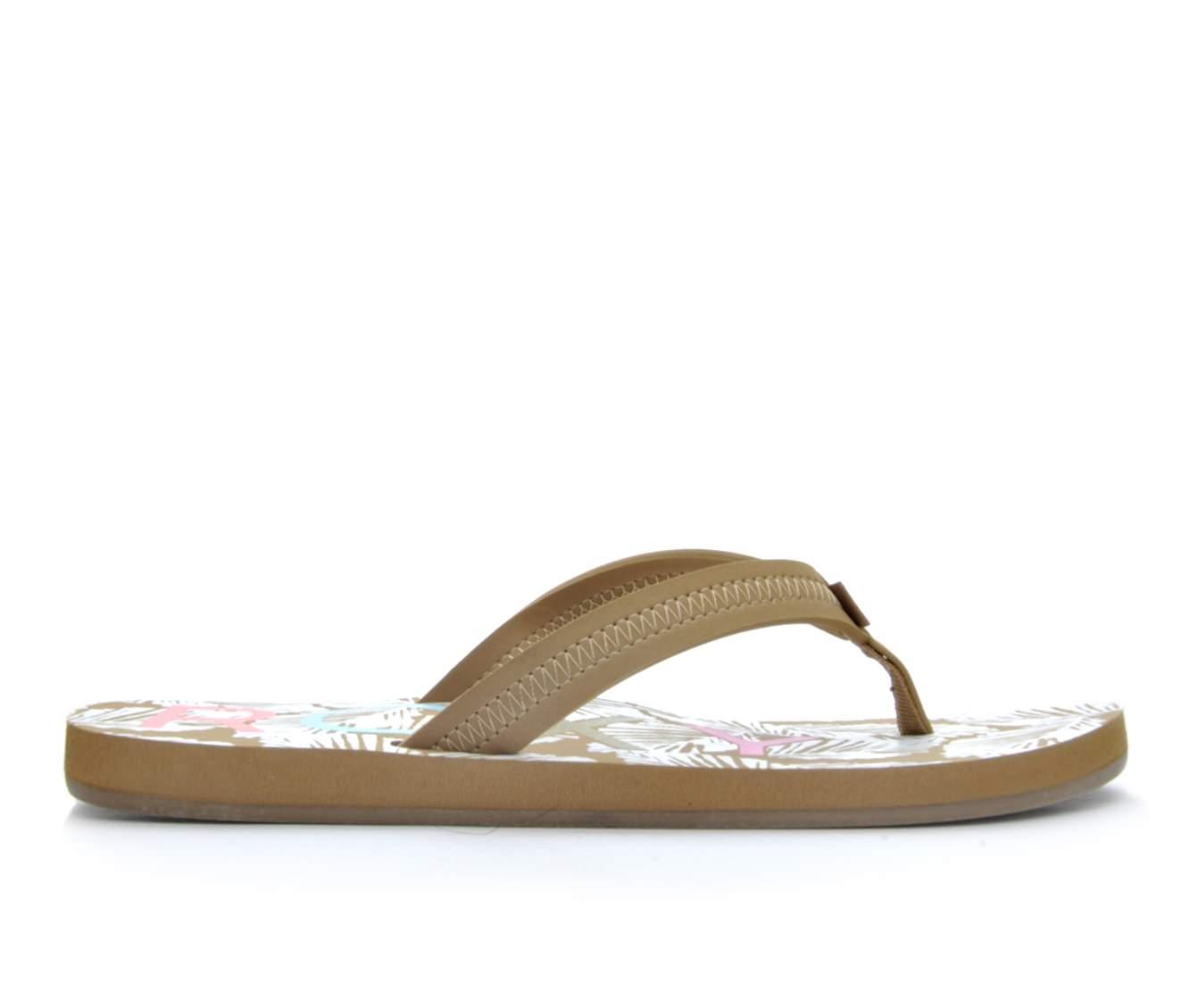 Women's Roxy Point Break Sandals (Beige)