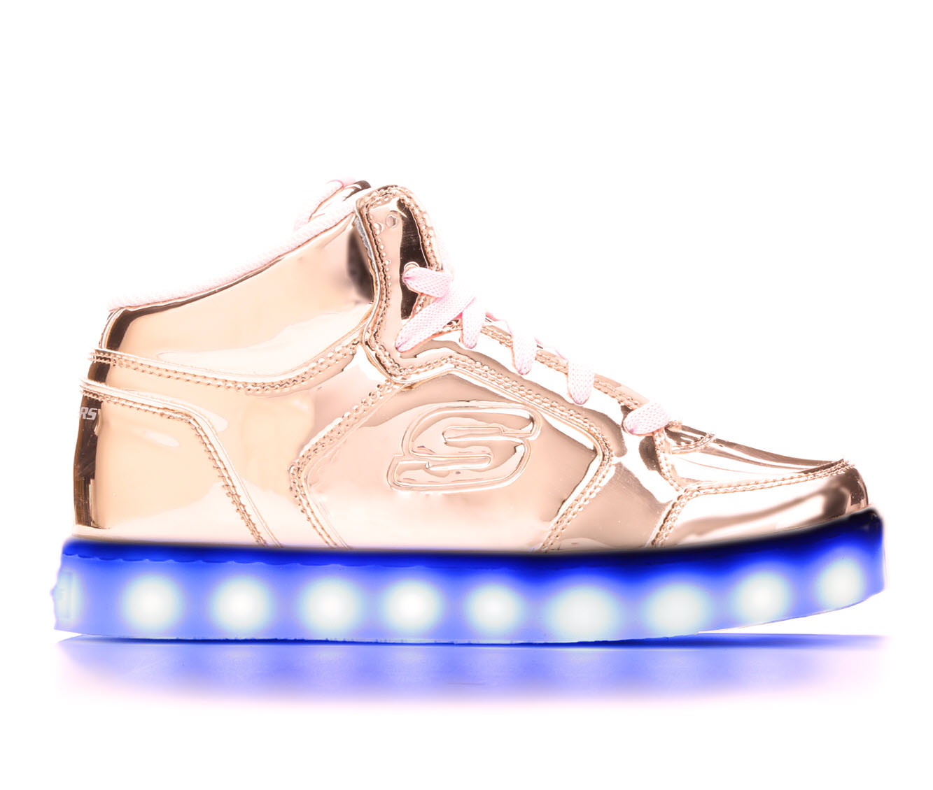 Girls' Skechers Energy Lights- Dance and Dazzle Sneakers (Gold)