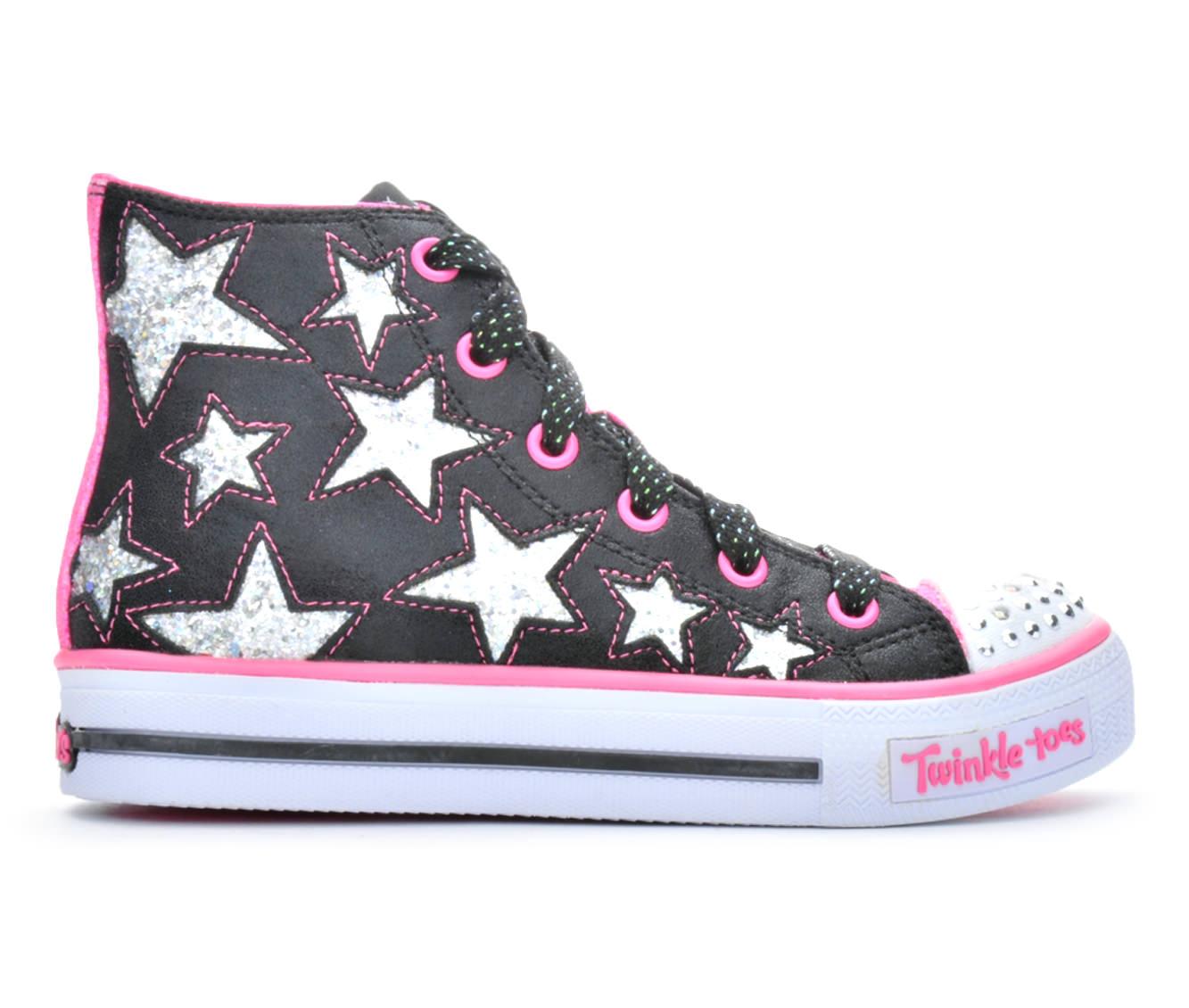 Girls' Skechers Shuffle Rocking Stars Sneakers (Black)