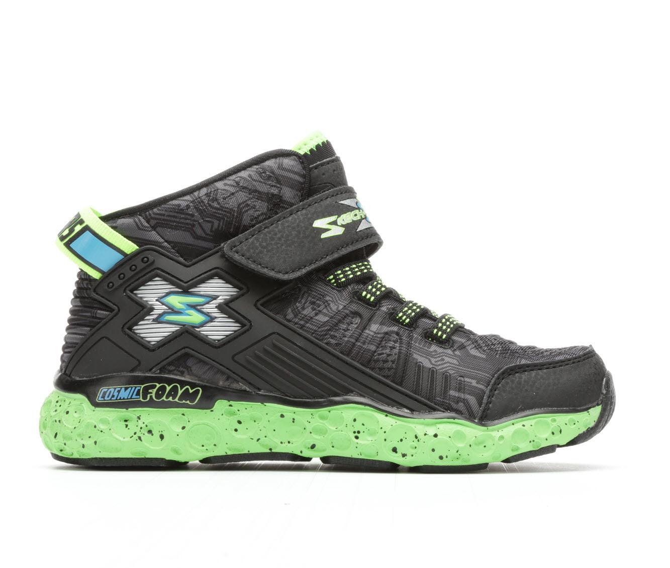 Boys' Skechers Cosmic Foam Hi Sneakers (Black)