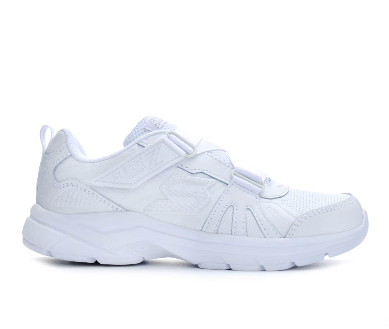 Girls' Skechers Ultrasonix Z- Book Smart Uniform Shoes (White)