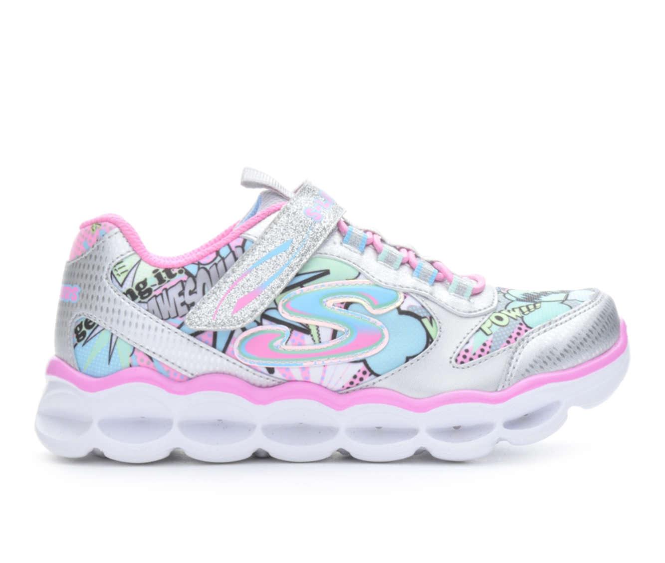 Girls' Skechers Lumi-Lux PopArt Sneakers (Silver)