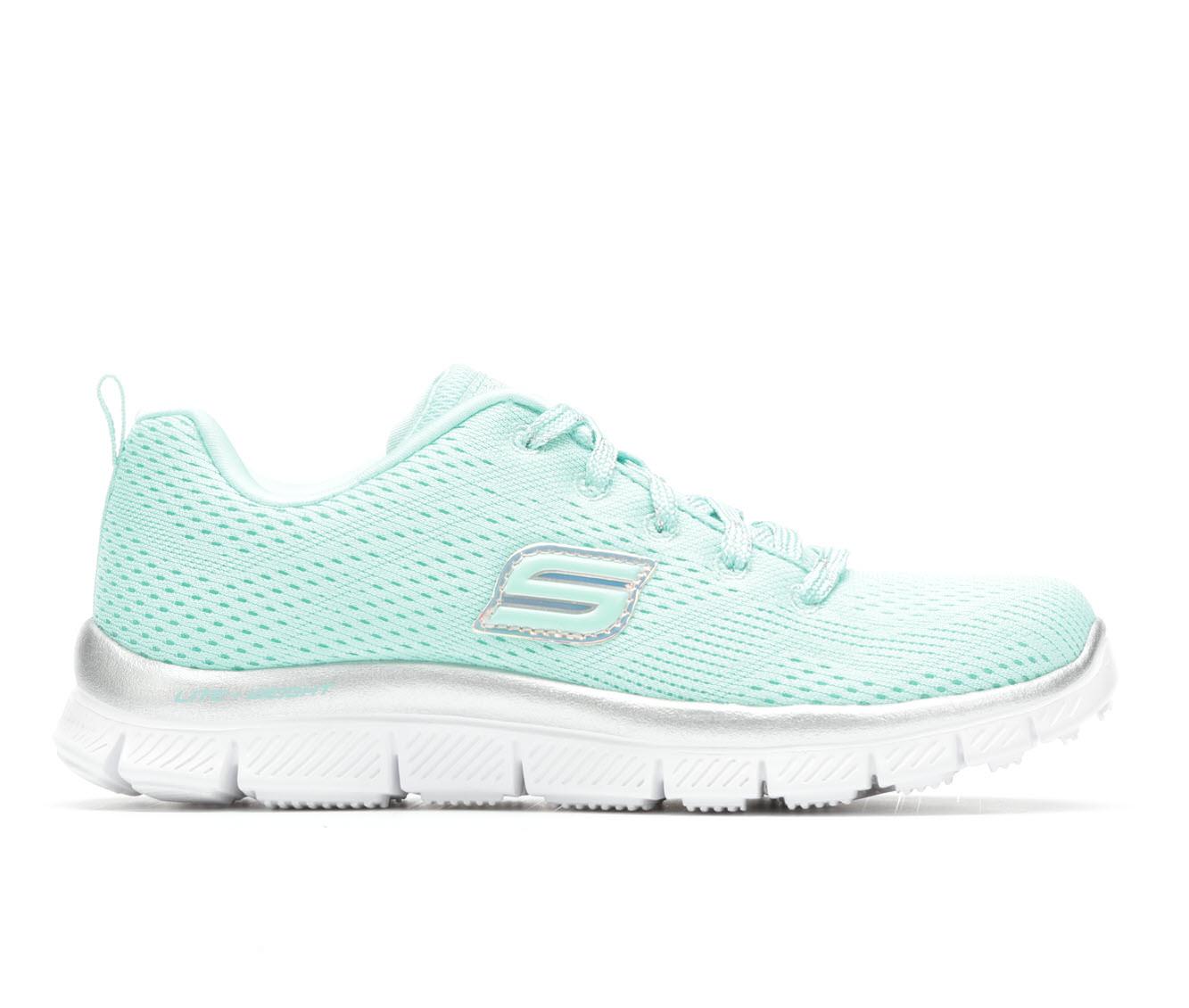 Girls' Skechers Skech Appeal- Rainbow Splash Running Shoes (Green)