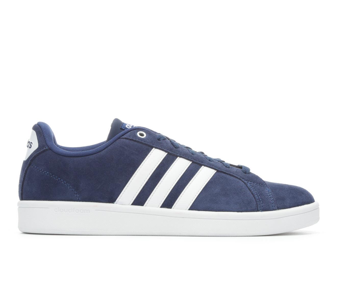 Men's Adidas Cloudfoam Advantage Stripe Sneakers (Blue - Size 7) 1655064