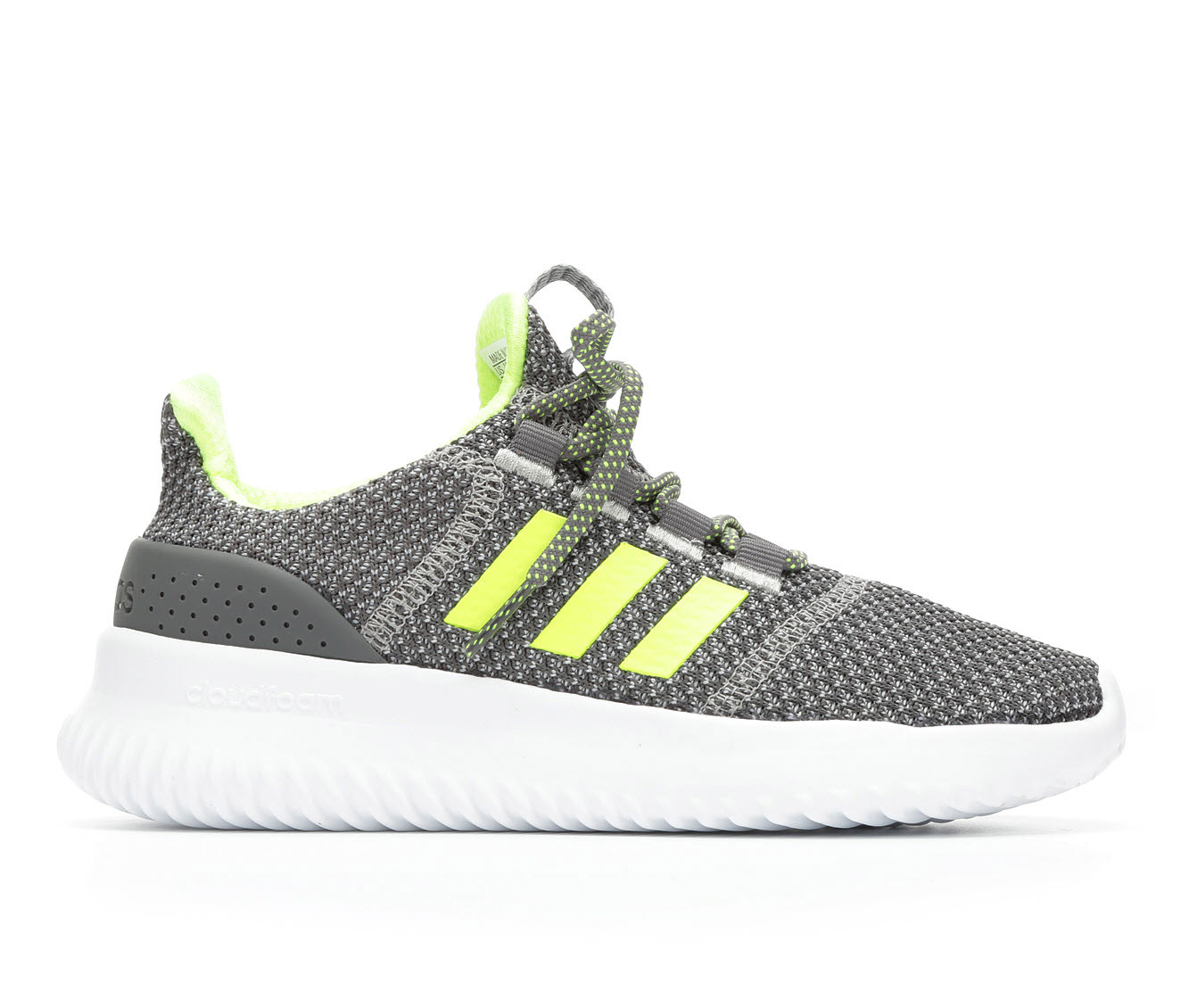 Boys' Adidas Cloudfoam Ultimate K Running Shoes (Grey)
