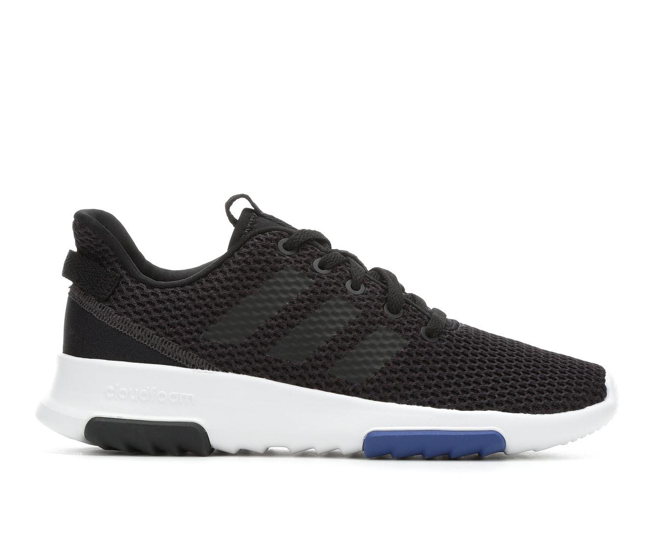 Boys' Adidas Cloudfoam Racer TR K Running Shoes (Black)