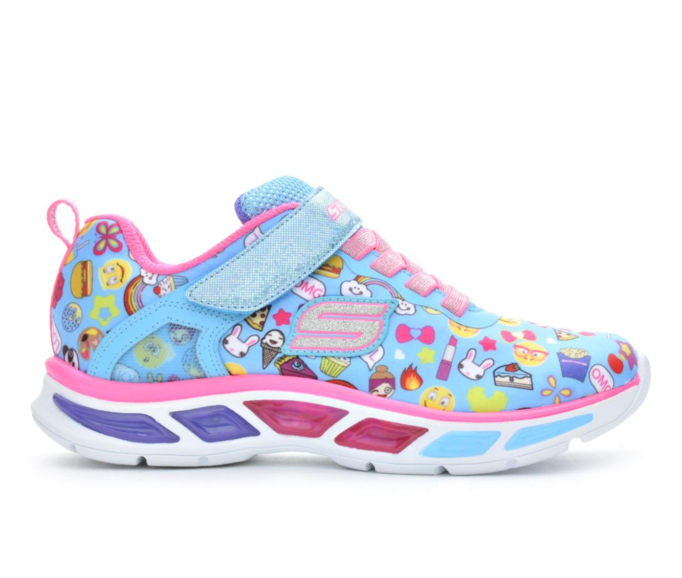Girls' Skechers Litebeams Emoji - Feelin' It Sneakers (Blue)