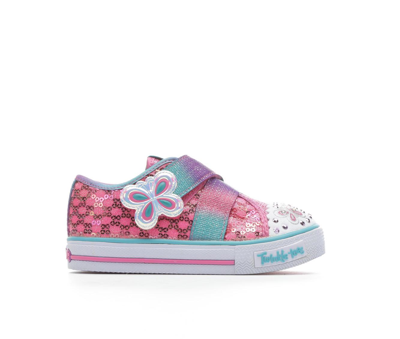 Girls' Skechers Shuffle Strappy Sneakers (Pink)