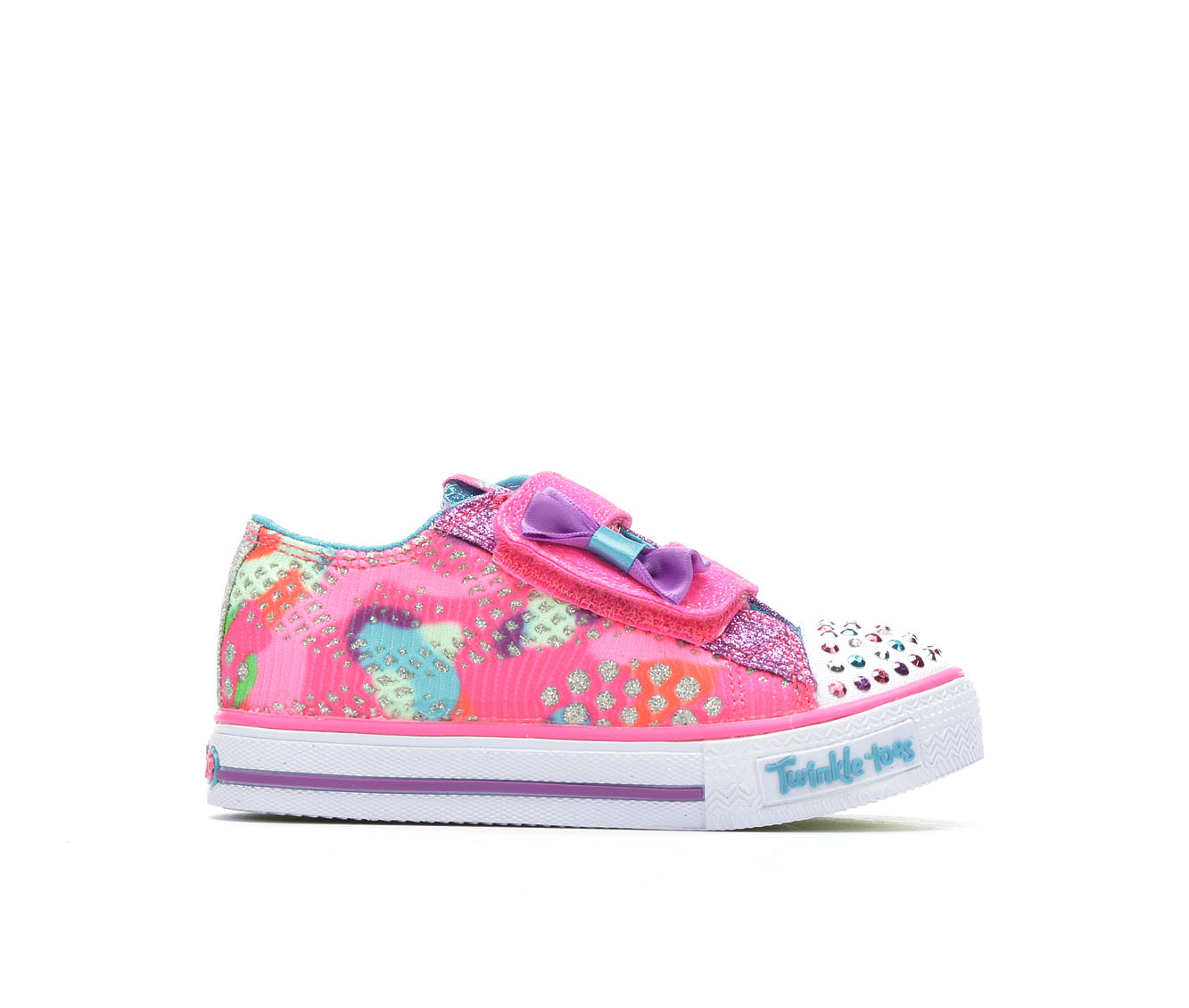 Girls' Skechers Infant Shuffles Little Lovely Sneakers (Pink)