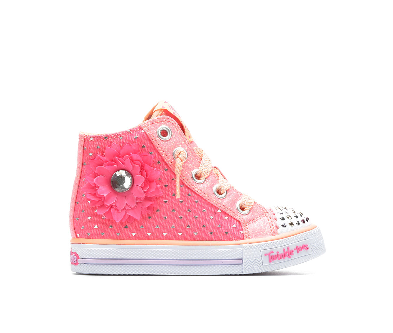 Girls' Skechers Inf Shuffles Bloom Sneakers (Pink)