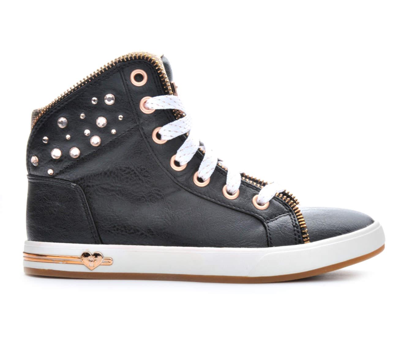 Girls' Skechers Shoutout Zipper Fancy Sneakers (Black)