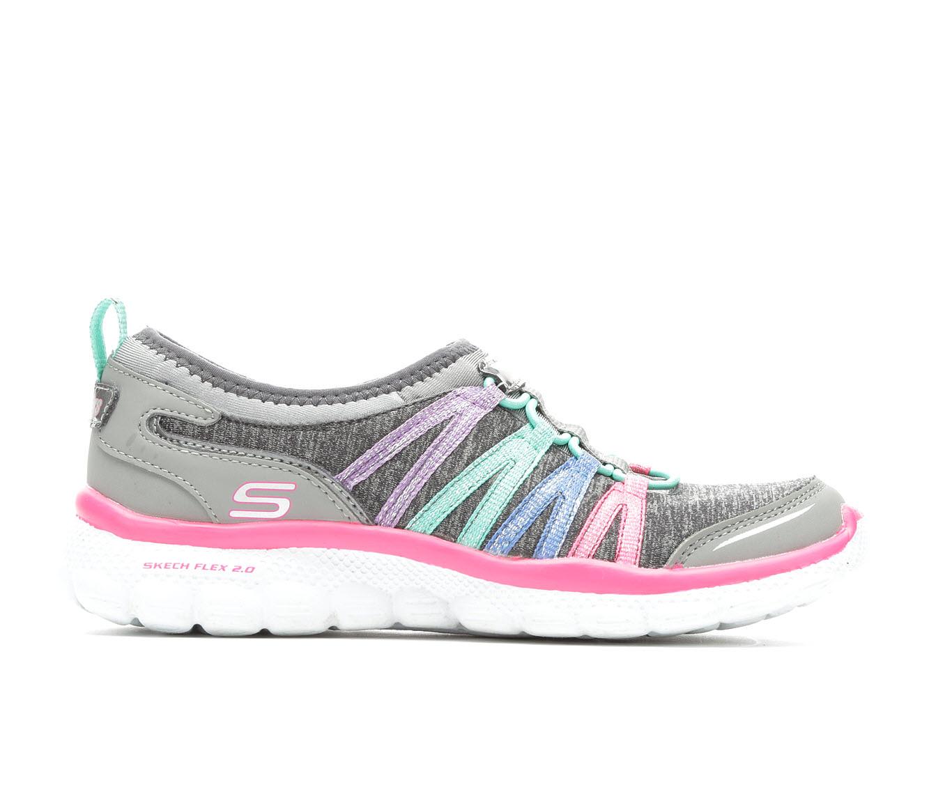 Girls' Skechers Flex 2.0 Children's Shoes (Grey)
