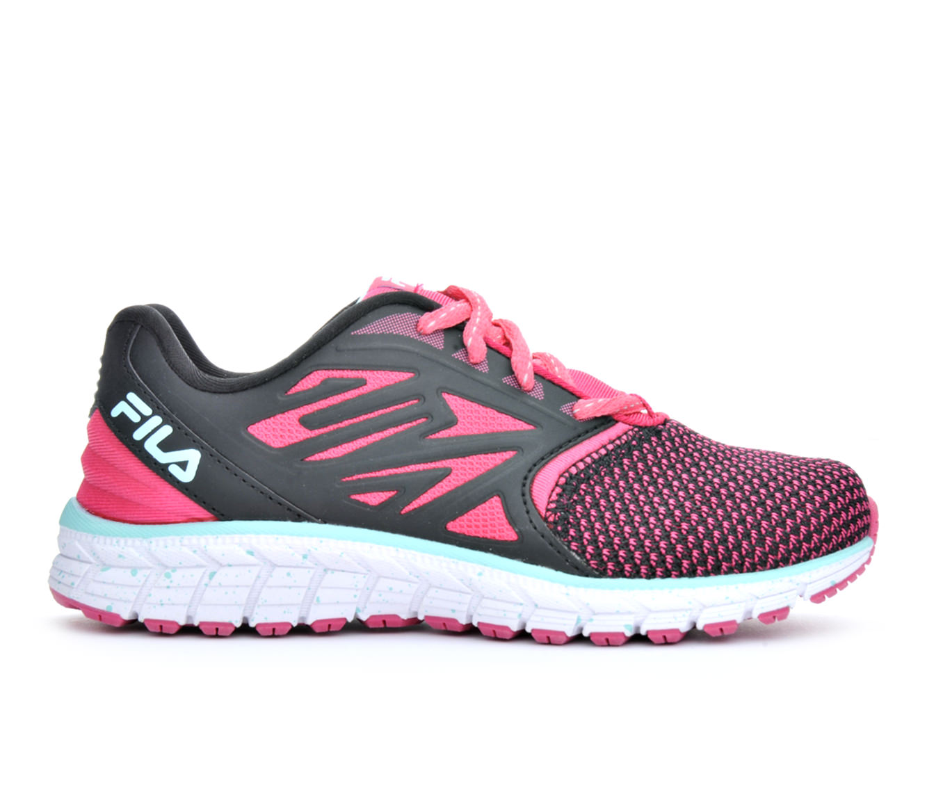 Girls' Fila Broadwave Running Shoes (Pink)
