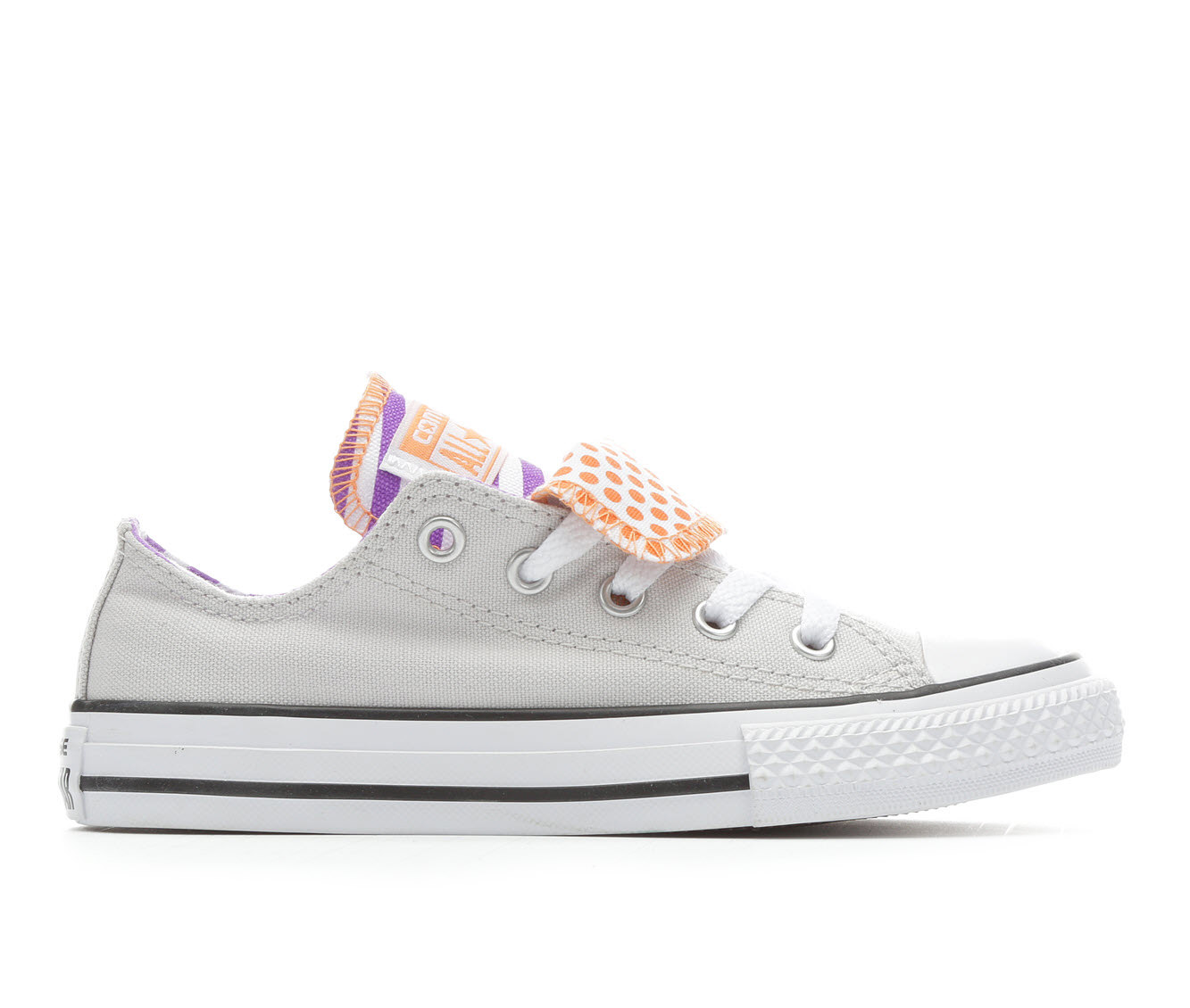 Girls' Converse Chuck Taylor DT Dots and Stripes Sneakers (Grey)