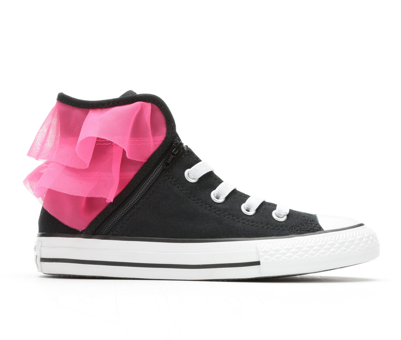 Girls' Converse Chuck Taylor All Star Block Party Hi Sneakers (Black)
