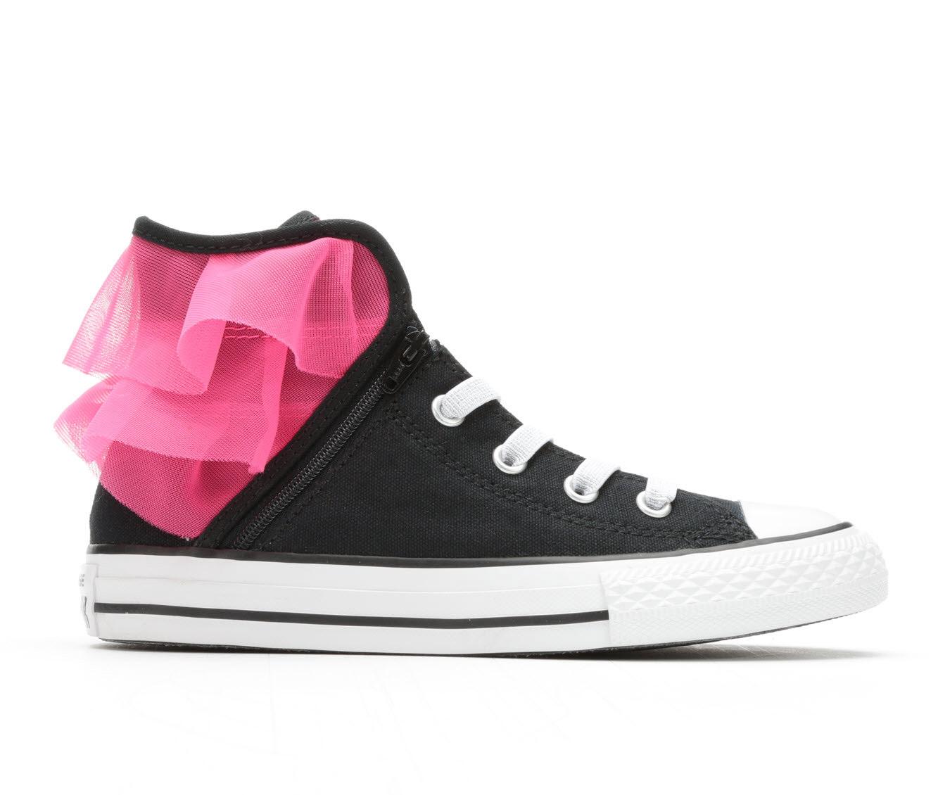 Girls' Converse Chuck Taylor All Star Block Party Hi Sneakers (Black)