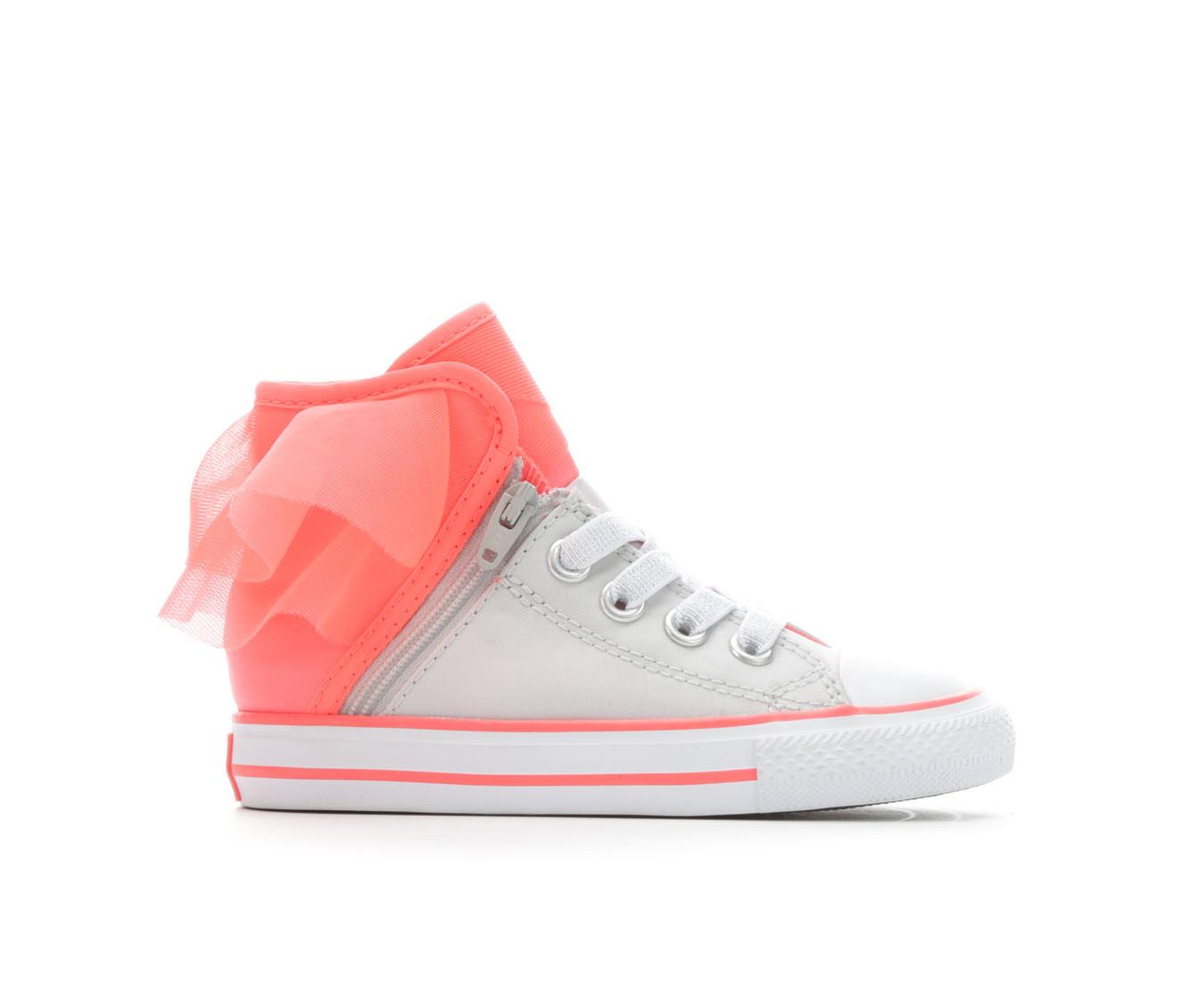 Girls' Converse Infant CTAS Block Party Hi Sneakers (Silver)