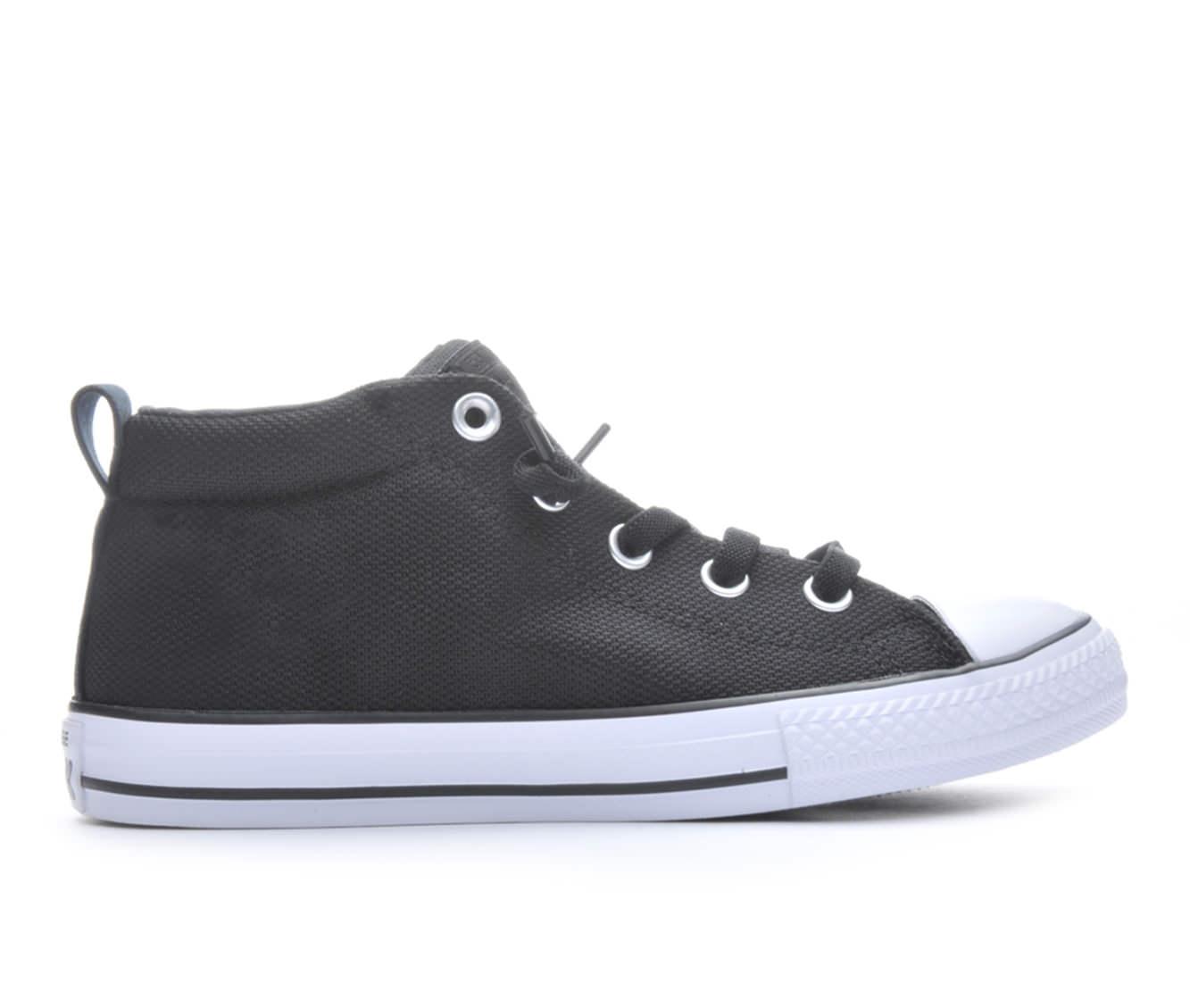 Girls' Converse CTAS Street Mid Basketweave Sneakers (Black)